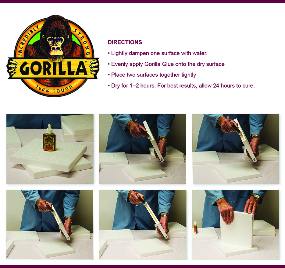 Gorila Glue Application Direction