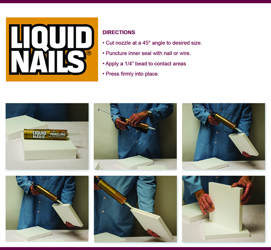 Liquid Nails Application Direction