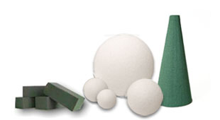 Dow STYROFOAM blocks, balls and cones