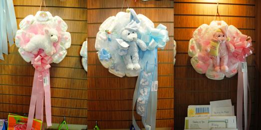 Door Hanger Wreaths Using Styrofoam Wreath