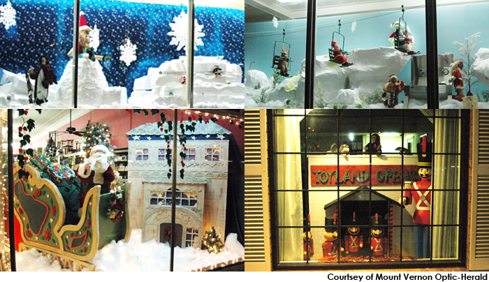Styrofoam Christmas Window