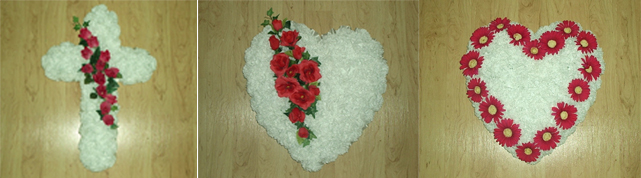 Styrofoam Cross and Heart