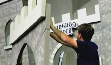 How to build a castle using Styrofoam