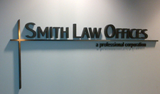 Physical Therapy & Law Office Signs created using Styrofoam