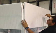 EPS foam panels to protect equipment for LTL shipping