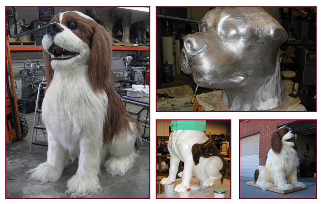 Styrofoam Dog Sculpture