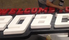 Legacy 3D uses EPS Foam blocks to carve creative props for paintball parks