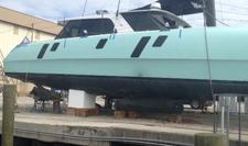EPS Boat cradles provide safe elevated storage