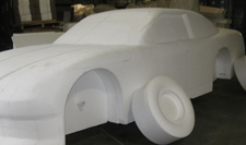 Replica of Car out of EPS foam blocks