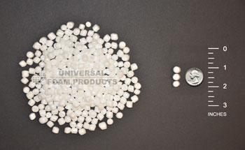 Polystyrene or Styrofoam Beads
