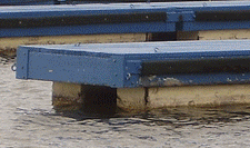 Floating Dock using Encapsulated Floats