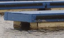 Floating Dock using Encapsulated Floats