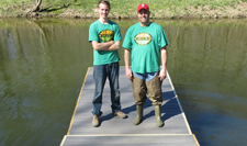 6 feet x 12 feet floating dock using Formex encapsulated floats
