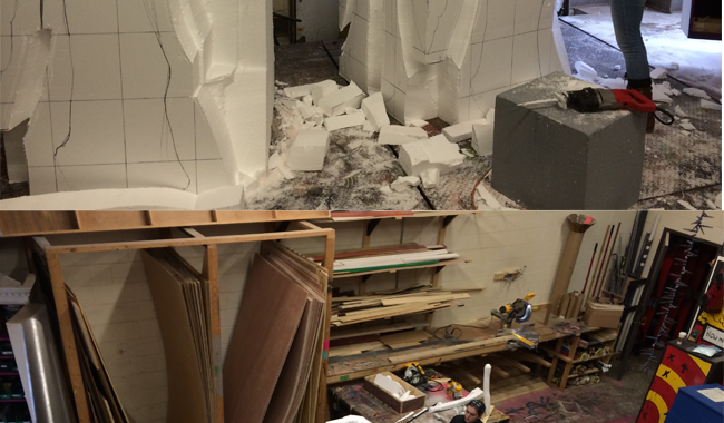 Foam to carve angels for the production