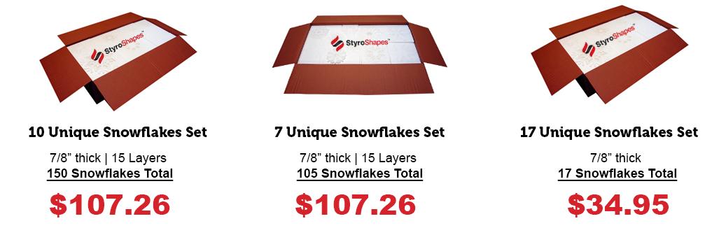 Box of Styrofoam Snowflakes