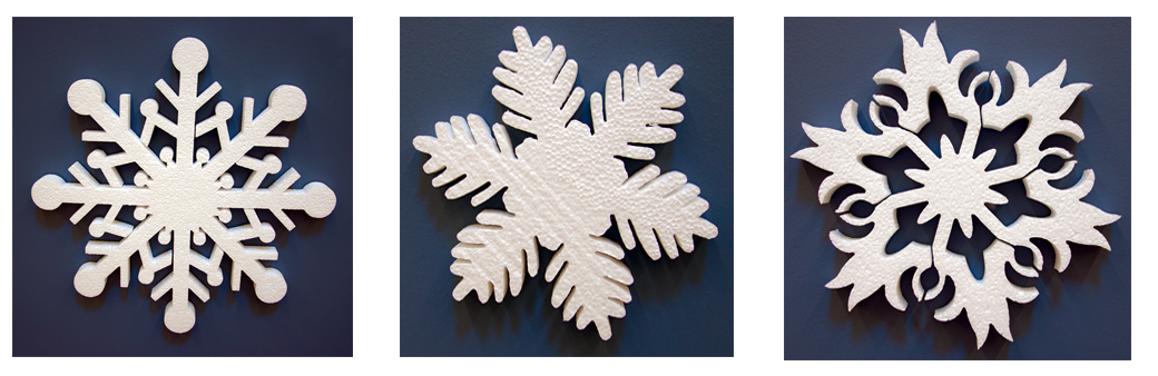 Styrofoam Snowflakes Wall Decorations