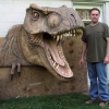 Dinosaur Head Carved for Tradeshow