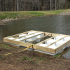Floating platform on a private pond in Culpepper, VA