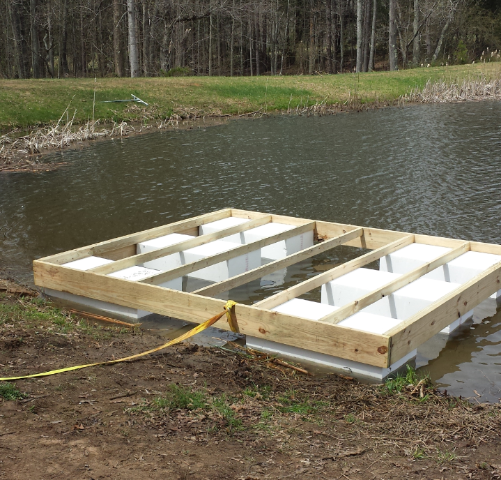 Floating Platform On A Private Pond In Culpepper Va