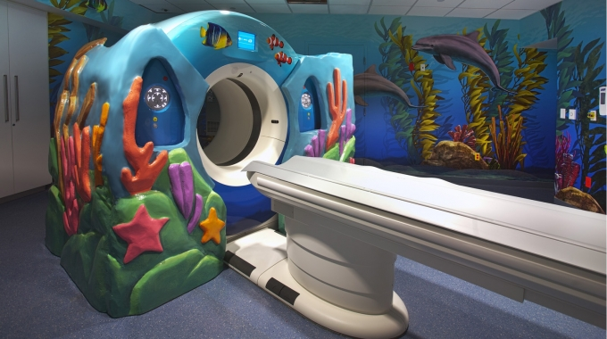 EPS Foam were used to create an outer shell for CT Scan