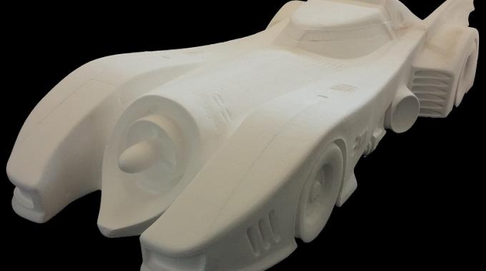 Car out of EPS foam blocks
