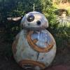 Styrofoam replica of the Star Wars Robot BB8