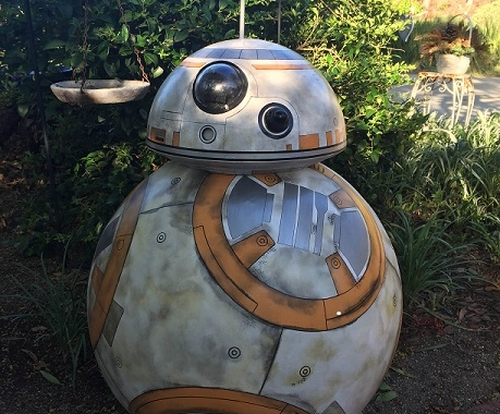 Styrofoam replica of the Star Wars Robot BB8