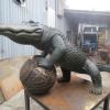 EPS Foam Sphere used to create sculpture of San Francisco Gators Mascot