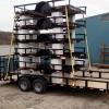 Trailer manufacturer used foam blocks to transport multiple trailers
