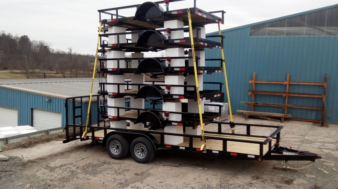 Trailer manufacturer used foam blocks to transport multiple trailers