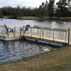 Seven blocks of .9 lb Virgin EPS were used to float this dock in Millen, GA