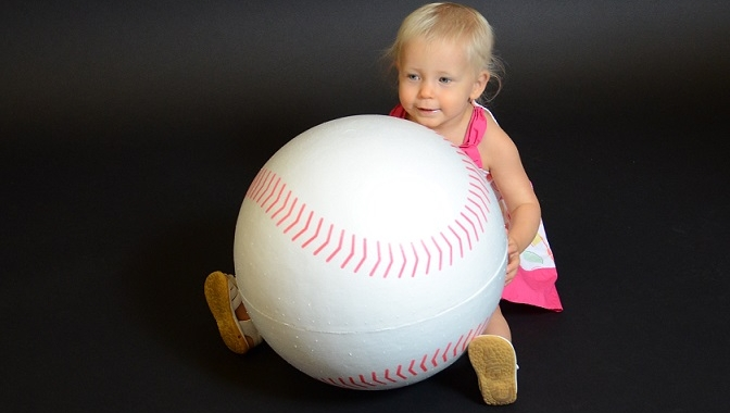 16 Inch Large EPS Foam Baseball