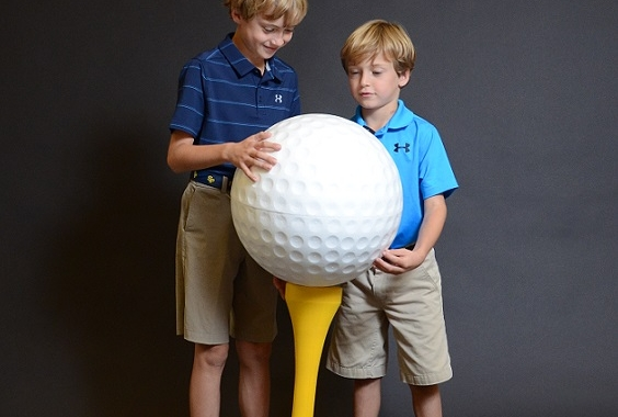 Large EPS Foam Golf Balls & Tees