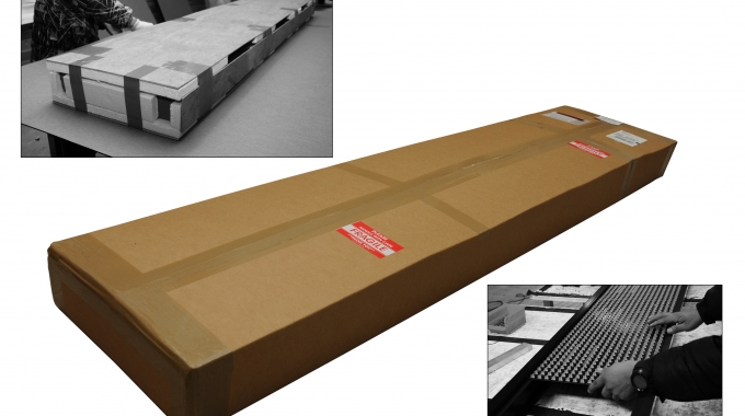 EPS packaging to protect lighting products