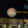 Solar system display using large half spheres