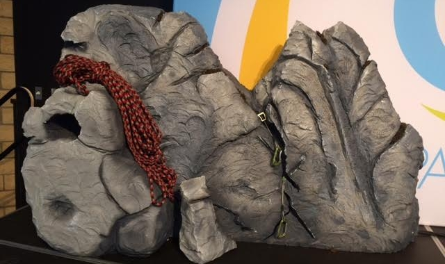 EPS Foam used to create Boulders