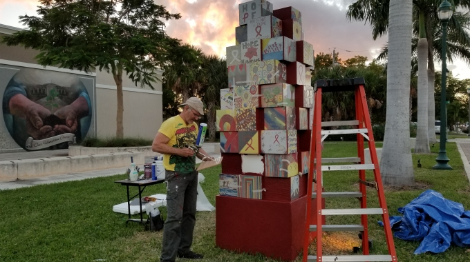 EPS Blocks to Create Art for World Aids Museum