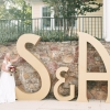 A Lasting Impression on their Wedding with Giant EPS Letters
