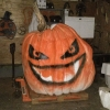 Giant pumpkin carved by an artist