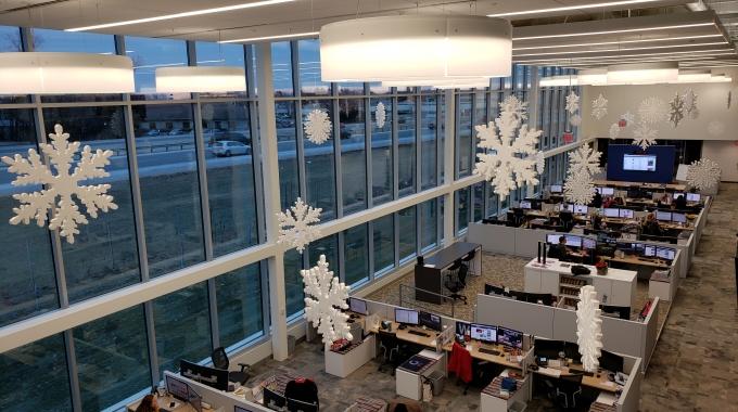30 Inch Giant Styrofoam Snowflakes