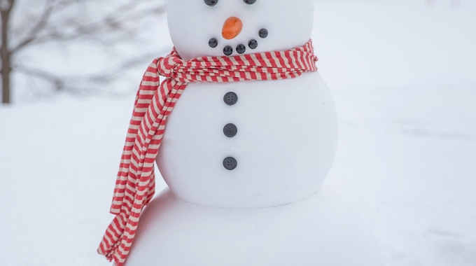 4 Foot Tall Styrofoam Snowman For a Photo Shoot
