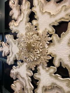 Giant Foam Snowflakes for Church Displays